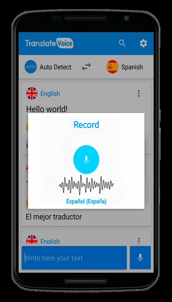 application translate voice