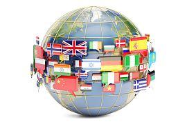 la terre avec tous les drapeaux